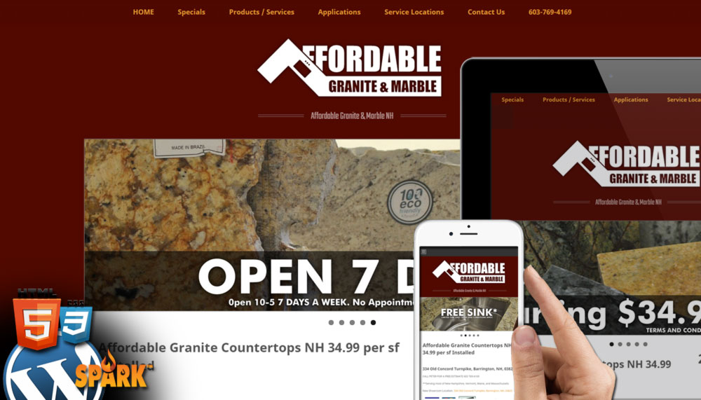 Website Design Granite Countertops